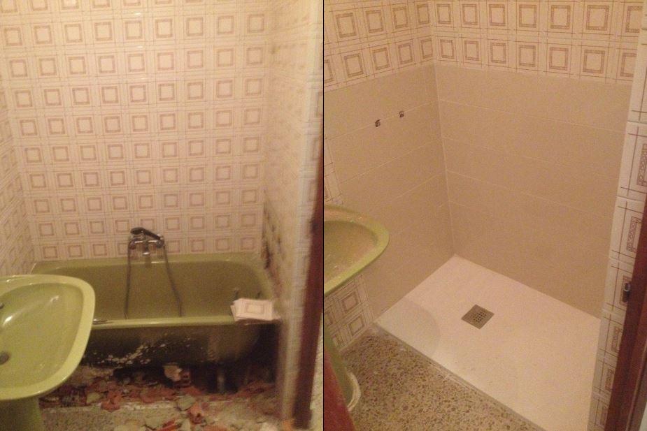 baño antes despues 6 Reformas Albacete Vicente Navarro